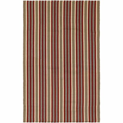 Artique Hand-Woven Green/Red Area Rug Rug Size: 8 x 10