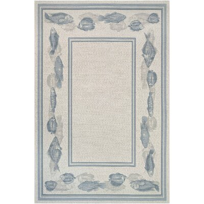 Tamecca Ivory Indoor/Outdoor Area Rug Rug Size: 53 x 76