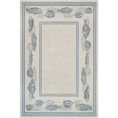 Tamecca Ivory Indoor/Outdoor Area Rug Rug Size: 81 x 112