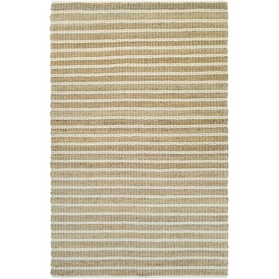Fairfax Desert Hand-Loomed Sand Dune/Ivory Area Rug Rug Size: Rectangle 4 x 6