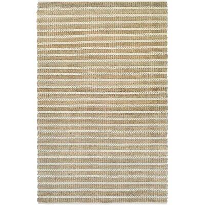 Fairfax Desert Hand-Loomed Sand Dune/Ivory Area Rug Rug Size: 4 x 6