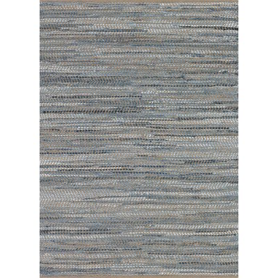 Fairfax Hand-Loomed Skyview Denim Area Rug Rug Size: Rectangle 4 x 6