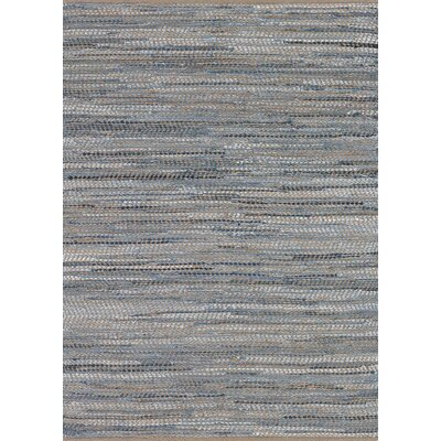 Fairfax Hand-Loomed Skyview Denim Area Rug Rug Size: 5 x 8