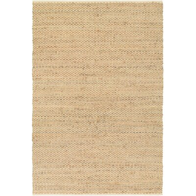 Fairfax Hand-Loomed Beige Area Rug Rug Size: Rectangle 4 x 6