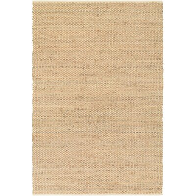 Fairfax Hand-Loomed Beige Area Rug Rug Size: Rectangle 6 x 9