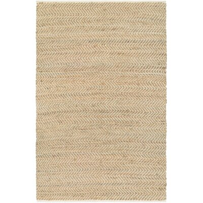 Fairfax Hand Woven Tan Area Rug Rug Size: Rectangle 4 x 6