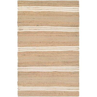Fairfax Hand-Loomed Ivory Area Rug Rug Size: Rectangle 6 x 9