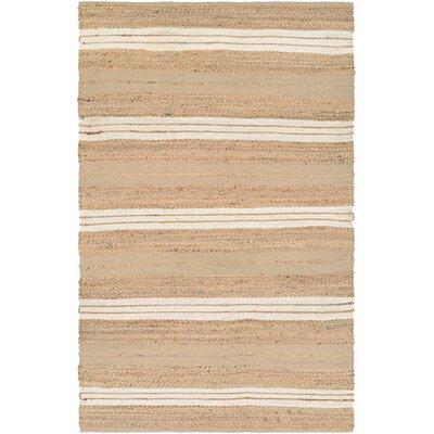 Fairfax Hand-Loomed Ivory Area Rug Rug Size: 710 x 1010