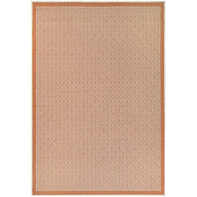 Wexford Sea Pier Orange Indoor/Outdoor Area Rug Rug Size: Rectangle 53 x 76