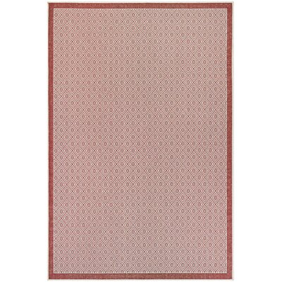 Wexford Sea Pier Maroon Indoor/Outdoor Area Rug Rug Size: Rectangle 76 x 109