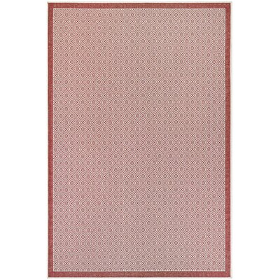 Wexford Sea Pier Maroon Indoor/Outdoor Area Rug Rug Size: 53 x 76