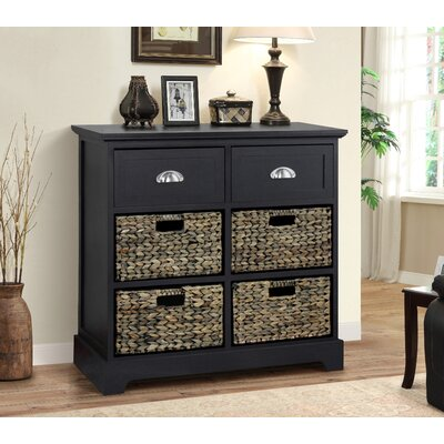 Fleming 2 Drawer 4 Basket Chest Finish: Espresso