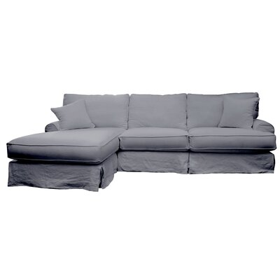 Jacqueline Sectional Upholstery: Charcoal, Orientation: Right Hand Facing