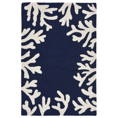 Claycomb Hand-Tufted Navy Indoor/Outdoor Area Rug Rug Size: 2 x 3