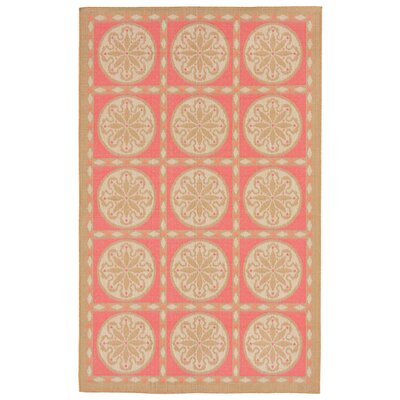 Coeur Tile Pink/Green Indoor/Outdoor Area Rug Rug Size: Rectangle 410 x 76