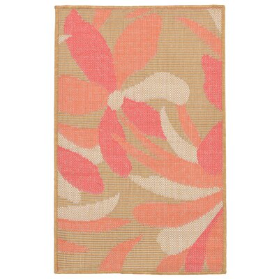 Coeur Flower Indoor/Outdoor Area Rug Rug Size: 111 x 211