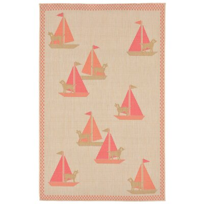 Coeur Sailing Dogs Beige Indoor/Outdoor Area Rug Rug Size: Rectangle 410 x 76