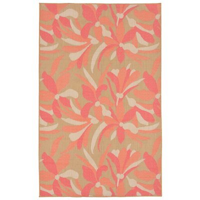 Coeur Flower Indoor/Outdoor Area Rug Rug Size: Runner 111 x 76
