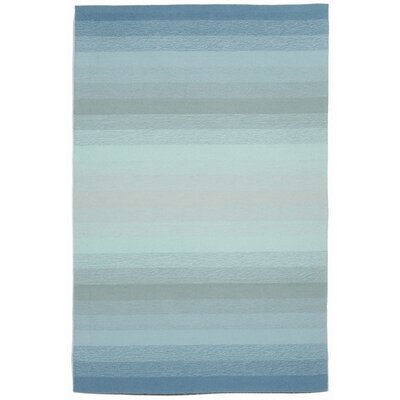 Clowers Ombre Aqua Indoor/Outdoor Area Rug Rug Size: 5 x 76