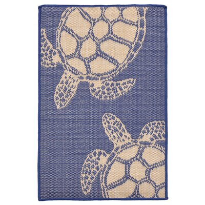 Clatterbuck Seaturtle Navy/Beige Indoor/Outdoor Area Rug Rug Size: Rectangle 111 x 211