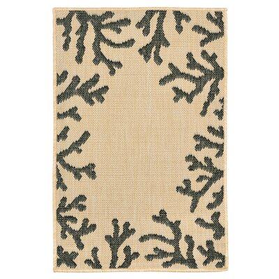Clatterbuck khaki Indoor/Outdoor Area Rug Rug Size: Rectangle 111 x 211