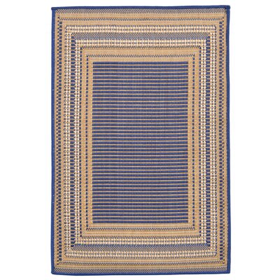 Clatterbuck Etched�Blue Indoor/Outdoor Area Rug Rug Size: 111 x 211