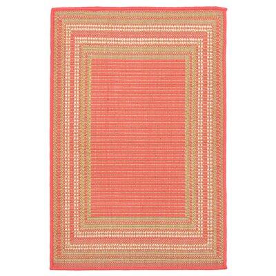 Clatterbuck Etched Pink Indoor/Outdoor Area Rug Rug Size: 111 x 211