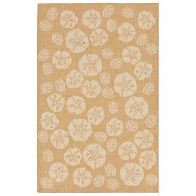 Clatterbuck Shell Toss Almond/Camel Indoor/Outdoor Area Rug Rug Size: 33 x 411