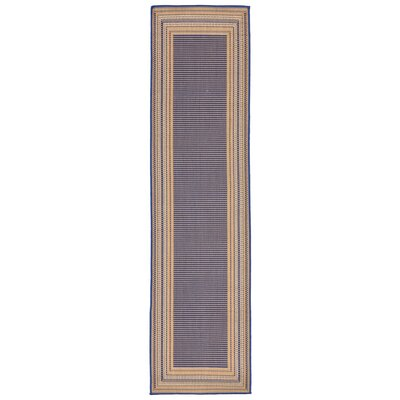 Clatterbuck Etched�Blue Indoor/Outdoor Area Rug Rug Size: Runner 111 x 76