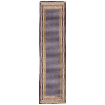Clatterbuck Etched�Blue Indoor/Outdoor Area Rug Rug Size: Runner 111 x 76