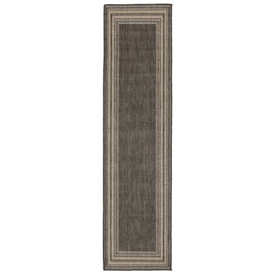 Clatterbuck Etched Gray/Beige Indoor/Outdoor Area Rug Rug Size: Runner 111 x 76
