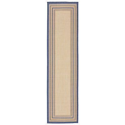Clatterbuck Border Neutral Indoor/Outdoor Area Rug Rug Size: Runner 111 x 76