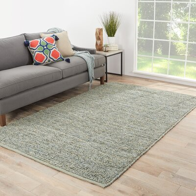 Patria Hand-Woven Blue Area Rug Rug Size: Rectangle 36 x 56