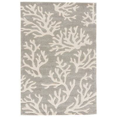 Margaret Hand-Tufted Gray/Ivory Area Rug Rug Size: 9 x 12