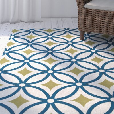 North River Green/Blue Indoor/Outdoor Area Rug