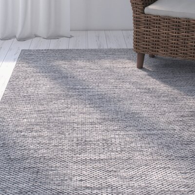 Parnell Hand-Woven Gray Area Rug Rug Size: Rectangle 4 x 6