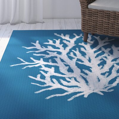 Fairhill Geometric Print Blue Indoor/Outdoor Area Rug Rug Size: 2 x 3
