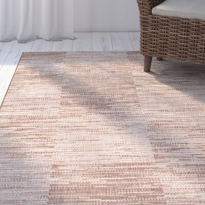 Thalassa Beige Indoor/Outdoor Area Rug Rug Size: 53 x 76