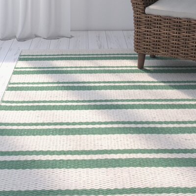 Coralie Hand-Woven Emerald Rug Rug Size: Rectangle 23 x 39