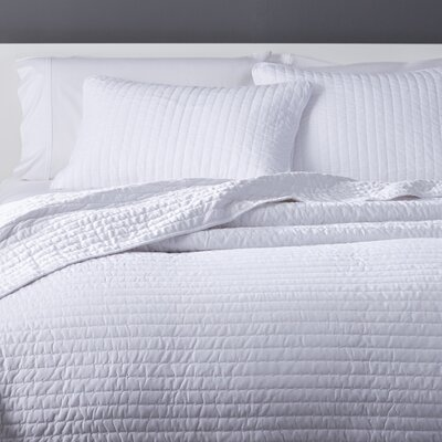 Coverlet Set Color: White, Size: King