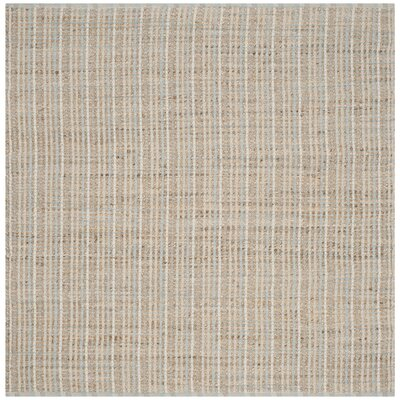 Abia Hand-Woven Natural Area Rug Rug Size: Square 6