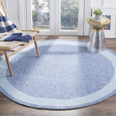 Liadan Blue Area Rug Rug Size: Round 6