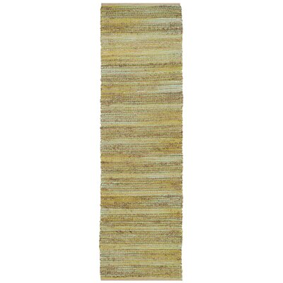Abia Hand-Woven Light Green Area Rug Rug Size: Runner 23 x 8