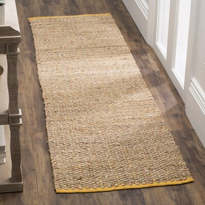 Abia Hand Woven Beige Area Rug Rug Size: Runner 23 x 8