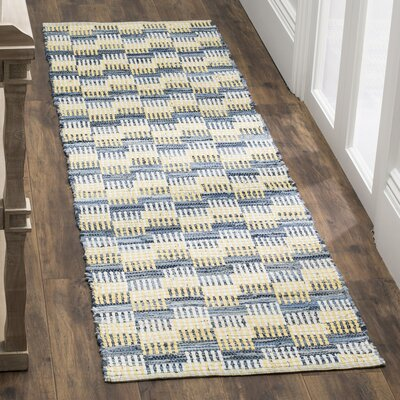 Alberta Hand-Woven Gold Area Rug Rug Size: Rectangle 4 x 6
