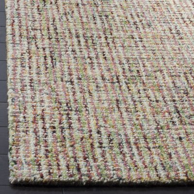 Port St. Joe Hand-Tufted Beige/Rust Area Rug Rug Size: Rectangle 4 x 6