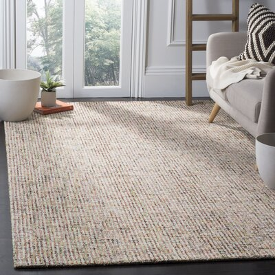 Hand-Tufted Gray Area Rug Rug Size: 6 x 9