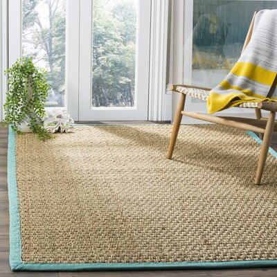 Richmond Natural/Teal Area Rug Rug Size: Rectangle 8 x 10