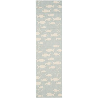 Lake Park Aqua/Beige Indoor/Outdoor Area Rug Rug Size: Runner 23 x 8