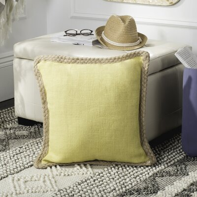 Felicia�100% Cotton Throw Pillow Color: Yellow